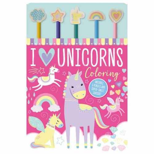 I Love Unicorns Colouring Pad