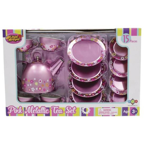 Pink Metallic Tea Set