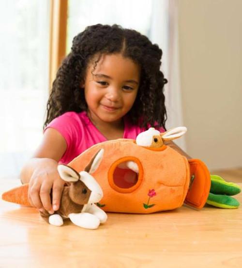 Bunny Carrot Cottage Plush Playset