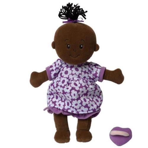 Wee Baby Stella Doll Brown (Purple Dress)