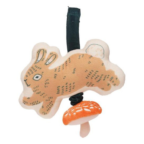 Button Bunny Pull Musical Take Along Toy