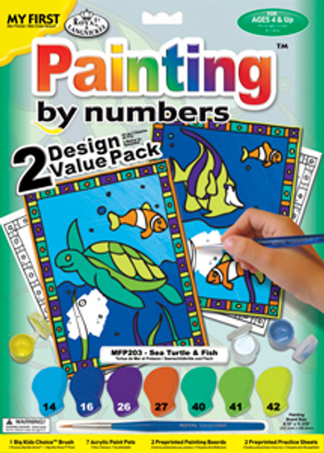 My First Paint By Numbers Sea Turtle and Fish 2 Pack