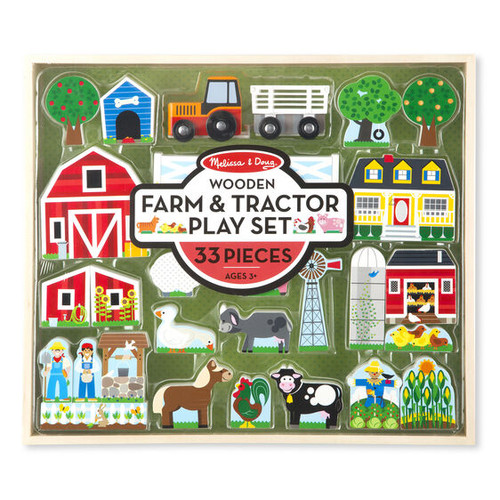Wooden Farm & Tractor Playset