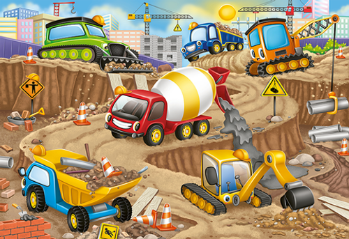Construction Fun  24 pc Floor