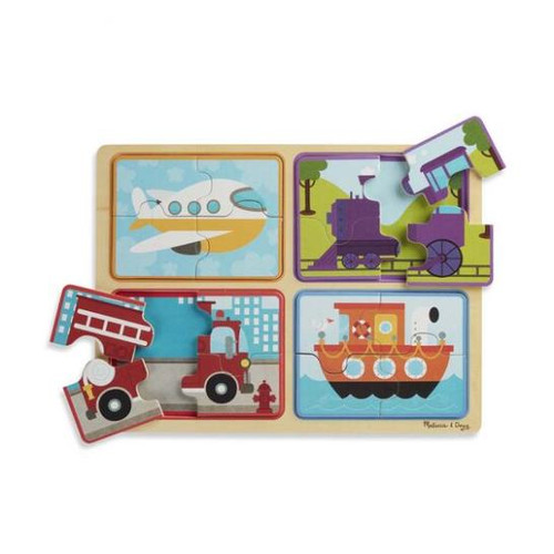Natural Play Wooden Puzzle - Ready Set Go