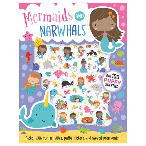 Mermaids and Narwhals with Puffy Stickers