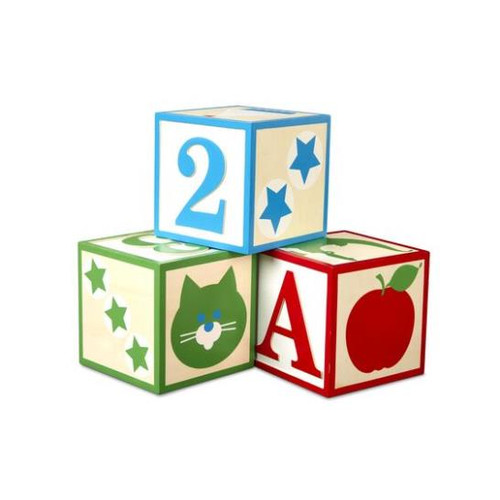 Wooden Jumbo ABC Blocks Classic