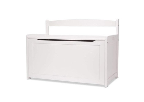 Toy Chest White Wooden Toy Box