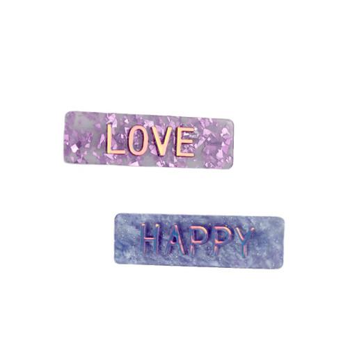 Happy Love Hair Clips