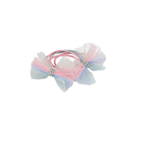 Pretty Pastel Ponytail Holders 6 pieces