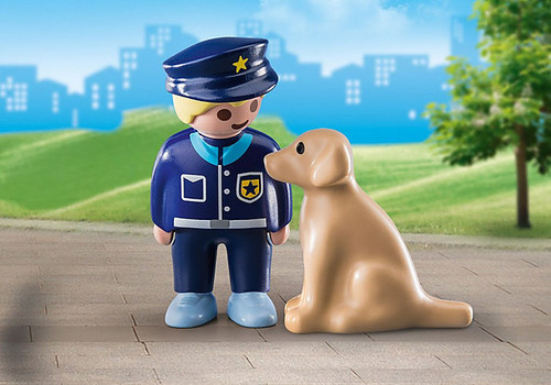Police Officer With Dog 1,2,3