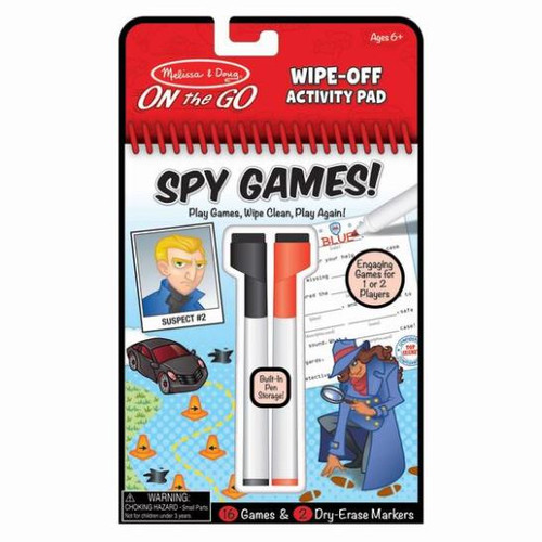 Wipe Off Activity Pad - Spy Games