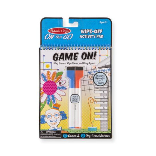 Wipe Off Activity Pad - Game On