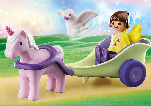 Unicorn Carriage With Fairy 1,2,3