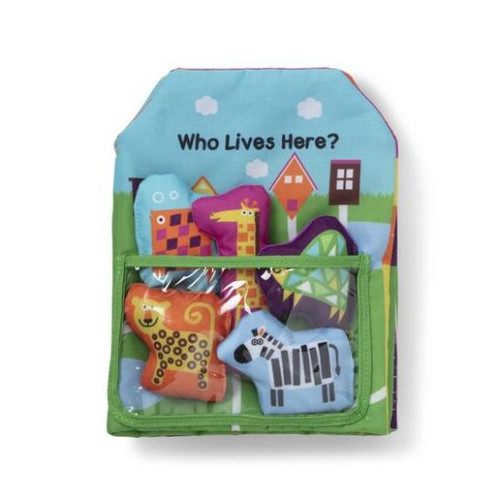 K's Kids Who Lives Here? Cloth Book