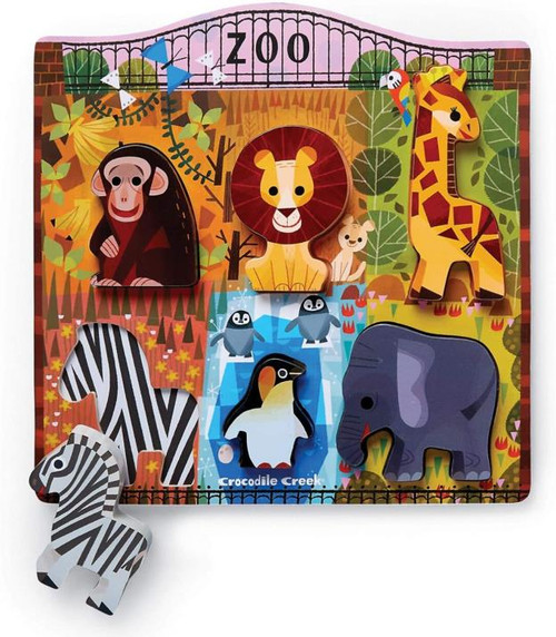Wood Puzzle - At the Zoo 6 piece