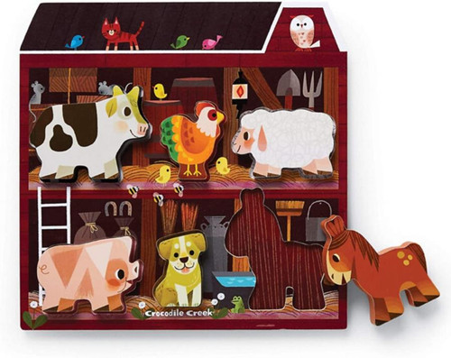 Wood Puzzle - On the Farm 6 piece