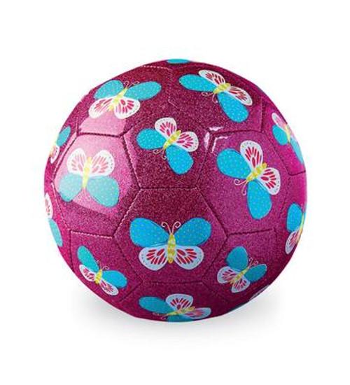 Size 3 Glitter Soccer Ball Butterfly