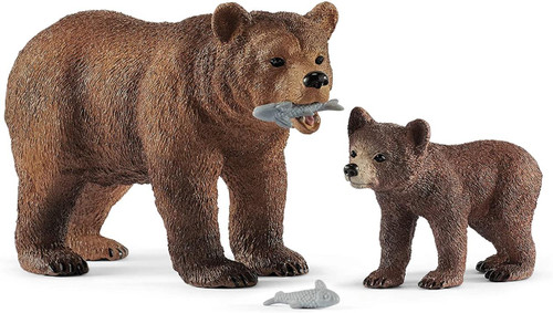 Wildlife - Grizzly Bear Mother with Cub