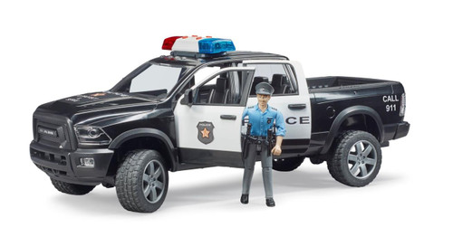 Ram 2500 Police with Policeman and Lights and Sounds