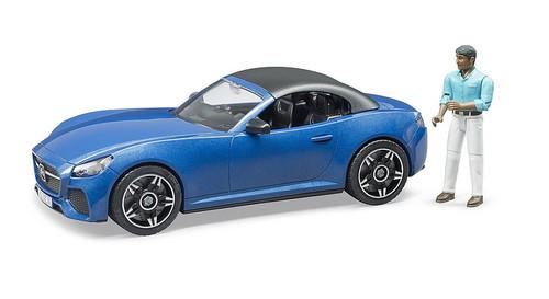 Bruder Roadster w/ Driver Blue