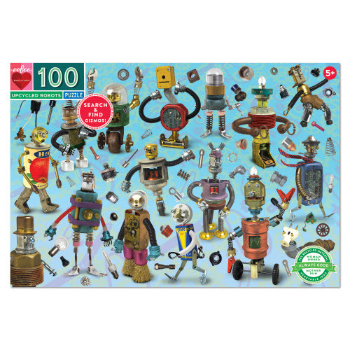 Upcycled Robots 100 piece