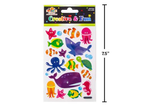 Sea Creatures Sparkle Stickers
