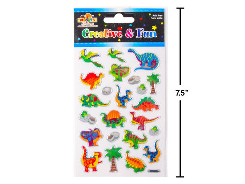 Dinosaur Crystal Foil Stickers