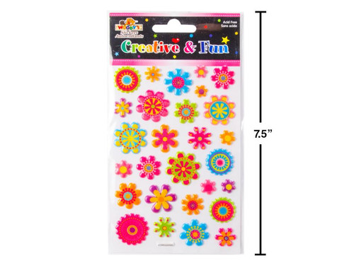 Flowers Puffy Stickers