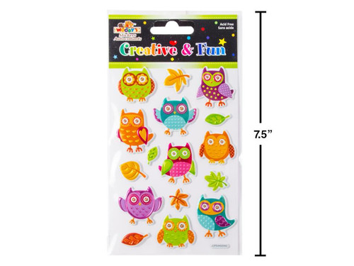 Owl Puffy Stickers