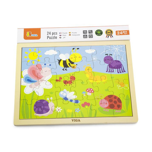 Wooden Puzzle Happy Insects