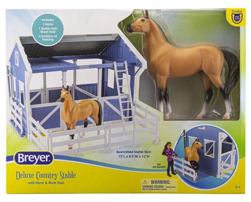 Deluxe Country Stable With Horse & Wash Stall