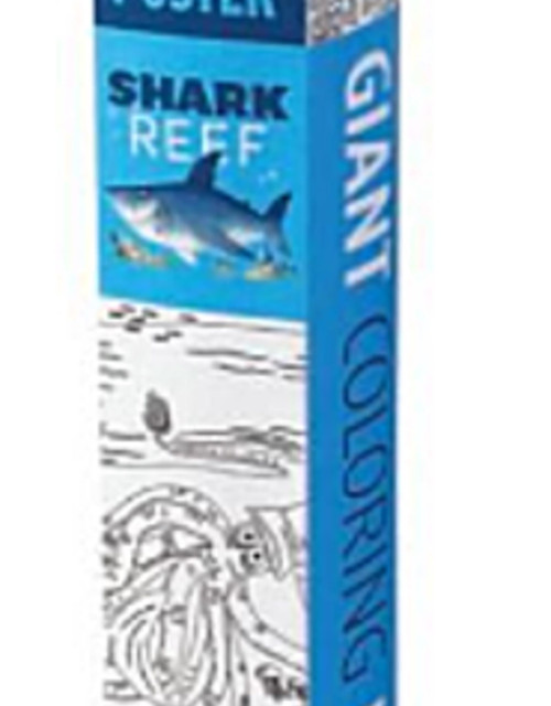 Coloring Poster Shark Reef