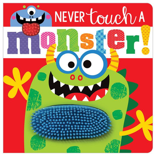 Never Touch A Monster Board Book Red