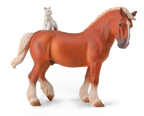 Draft Horse With Cat