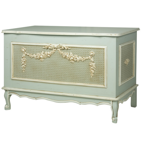 French Toy Chest in Provence Blue