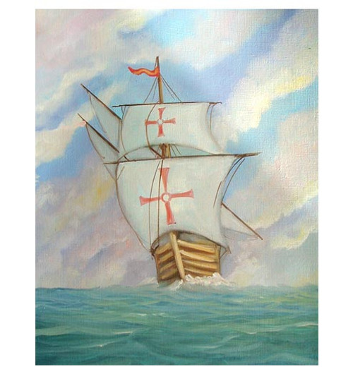 Columbus' Ship 'Pinta' - An Original Watercolor