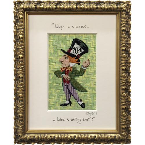 Needlepoint - Mad Hatter, Alice in Wonderland