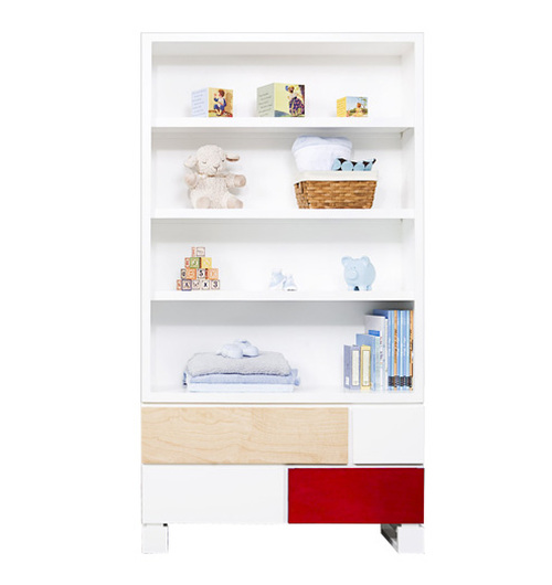 De Stijl Bookcase w/Red