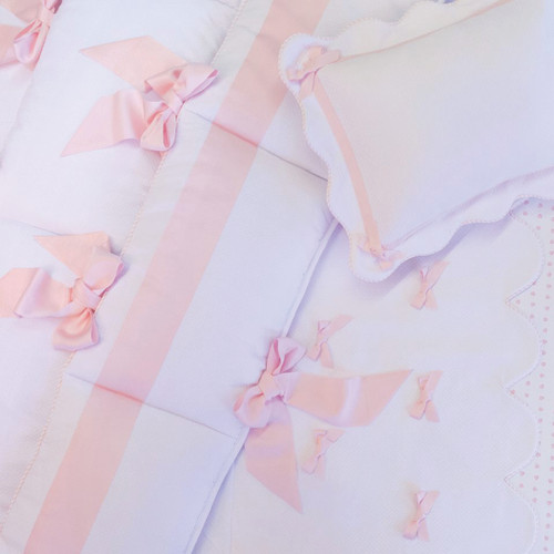 Midori Ribbon Bedding Set in Pink