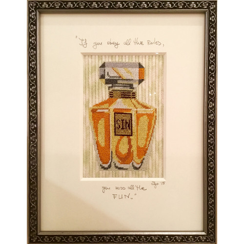 Needlepoint - Sin Perfume Bottle