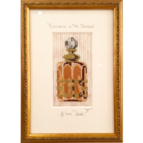 Needlepoint - Gold Perfume Bottle
