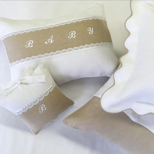 Custom Nursery Pillows in Linen
