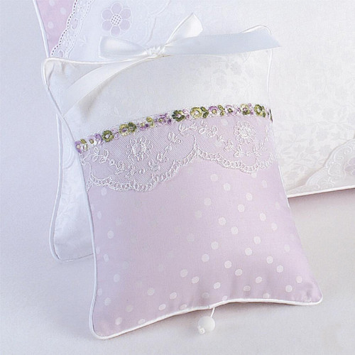 Musical Pillow in Lavender Celeste