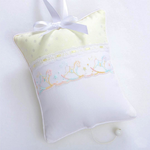 Musical Pillow with Rocking Horses