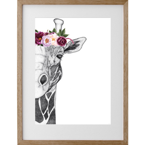 Georgi the Giraffe w/Pink Flowers