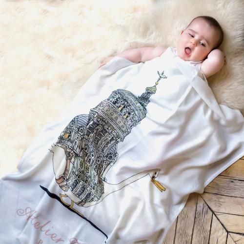 Cashmere Blanket - Traveling Swan