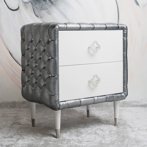 Jewels Nightstand - Tufted w/Diamonds - FLOOR SAMPLE