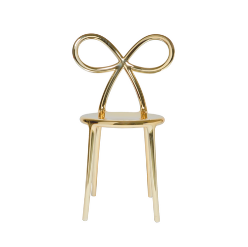 Ribbon Chair Metal Finish - Gold