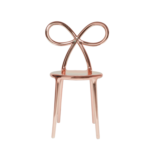 Ribbon Chair Metal Finish - Pink Gold